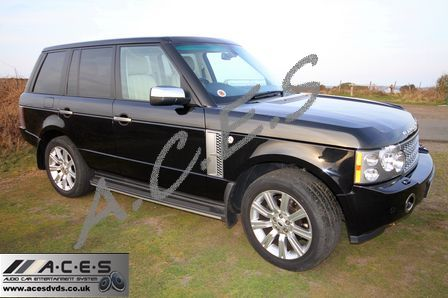 range rover acesdvds the home of audio car entertainment systems and dvd headrests. Black Bedroom Furniture Sets. Home Design Ideas